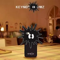 apple keynote - Newest iPhone Plus D Cartoon KEYNOTE Sea Urchin Cases Silicone Rubber Cover Case for iPhone S Plus Cute Lovely Skin