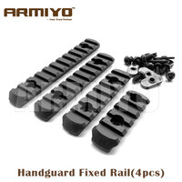 Wholesale Armiyo Tactical Polymer Picatinny Rail Mount Fits Hunting Handguard Fixed Flashlight Laser Optic Scope Folding Sight set