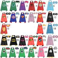 batman cape - Double side kids Superhero Capes and masks Batman Spiderman Ninja Turtles Flash Supergirl Batgirl Robin for kids capes with mask