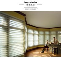 Wholesale Translucent Polyester Zebra Blinds in Dark Coffee Window Curtains for Living Room colors are Available ZD091B