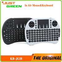Wholesale KB JGI8 Mini Keyboard Air Mouse Multi Media Remote Control Touchpad Handheld for Android TV BOX Notebook Mini PC