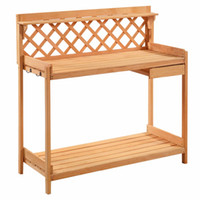 Wholesale Potting Bench Outdoor Garden Work Bench Station Planting Solid Wood Construction