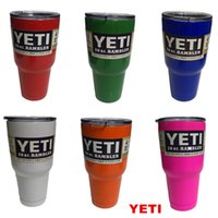 best selling beer - Best sell YETI oz Cup Cooler YETI Rambler Tumbler For Travel Vehicle Beer YETI Mug Tumblerful Bilayer Vacuum Insulated Stainless Steel