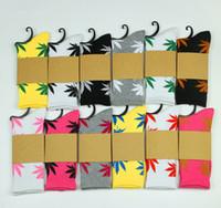 Wholesale 100pair colors DHL Free Men women Huff Sock Maple leaf Socks long fashion sport Socks Long Skateboard hiphop socks Meia women unisex