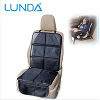 baby car seats - LUNDA Luxury leather Car Seat Protector Child or baby car seat cover Easy Clean Seat Protector Safety Anti Slip Universal Black
