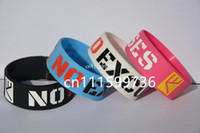 Wholesale 25pcs No Excuse Motivation Silicone Bracelet For Cancer Awareness or Sports
