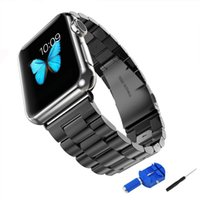 Cheap iWatch wrist Band 38mm 42mm Stainless Steel Strap Bracelet Link Replacement for Apple watch Polishing Metal Watchband with Clasp connector