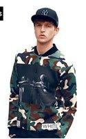 baseball pa - Fall Hot D Men Jackets Coat Fashion Camouflage OFF WHITE Letter Printing Sweatshirts Men Baseball Uniform Jacket Hip Hop Sport Suit Pa