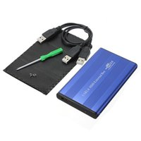 Wholesale 100 Brand New Blue USB Inch pin IDE HD Hard Disk Drive HDD External Case Enclosure Box For Mac OS Notebook Laptop PC