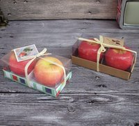 Wholesale Fashion Hot Home Decoration Christmas High simulation Apple Candle Ornament or Gift for Friends