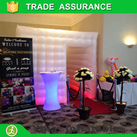 Wholesale inflatable cube photo booth lighting