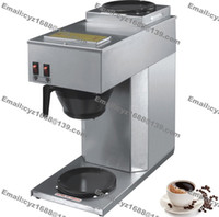 Wholesale L Cup Stainless Steel Cafe Shop Home Restaurant Office American Style Coffee Machine Maker