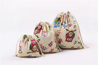 Wholesale Owl DRAWSTRING CANVAS Plush Backpacks BACKPACK kids back packs handbag Toys gifts