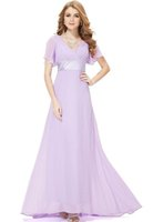 attractive colors - 2016Glamorous double V neck evening dress Special short sleeve styleChiffon various attractive colors Evening