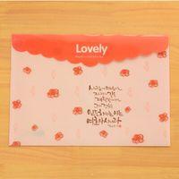 Wholesale PVC Document Bag File Case Lovely Plastic Floral File Folder School Candy Color File Folder