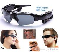 Wholesale New GB Headset Smart Sunglass Mp3 Player Mp3 Sunglass Player MP3 Glasses Good Quality Freeshipping