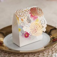 beautiful wedding favours - 50X Beautiful Floral Laser Cut Colored Wedding Favour Gift Boxes Sweet Candy Chcolate Packing Box