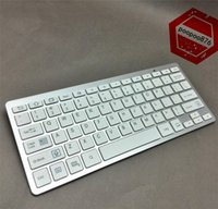 Wholesale 2016 Mini Wireless Keyboard Slim Streamline Design Ghz Bluetooth Keyboards for iphone iPad Samsung Tablet PC Laptop PC With Retail Packag