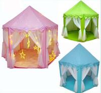 Kids Play tienda de campaña príncipe y princesa Party Tent niños Indoor tienda de campaña al aire libre juego de la casa tres colores para elegir