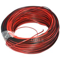 Wholesale meter AWG pin Red Black cable PVC insulated wire awg wire Electric cable LED cable DIY Connect free ship