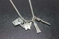 best toothpaste - Antique silver floss necklace wings teeth and toothpaste toothbrush charm pendant necklace Best friend necklace