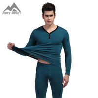 Wholesale Men s Two Piece Long Johns Top amp Bottoms Thermal Underwear Set NEW Cotton Autumn or Winter Basic Long John Sets