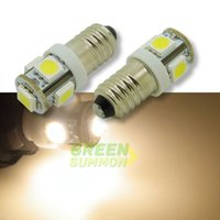 Wholesale E10 EY10 T3 SMD LED Warm White white Lights Miniature Screw Bulb for DIY LIONEL DC V