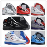 Wholesale Sport Shoes Discount China - Original China Men's Basketball 2 Retro Shoe Cheap High Quality 2 Men Sports Shoes Discount Running Shoes Leather Basketball Shoes Eur 41-47