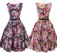 Wholesale 2016 Cheap Bohemian Vintage Dresses A Line Mid Calf Sleeveless Casual Dresses Summer Beach Flora Printed Women Wear