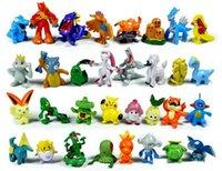Wholesale 144 Style Poke Figures Toys cm Multicolor Children Cartoon Pikachu Charizard Eevee Bulbasaur Suicune PVC Mini Model Toy K7682