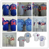 baseball clock - Throwback Chicago Cubs Turn Back The Clock Jon Lester Kris Bryant Rizzo Jake Arrieta Baseball Jerseys Embroidery Logos