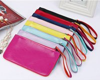 Wholesale 20 cm PU Leather Moible Bag Cell Phone Pocket Money Dibs Change Wallet Women Lady New Designer Sundries Mess Kits Coin Purses