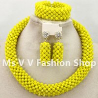 beaded earrings design - 2016 new design statement yellow african jewelry indian jewelry beaded bracelets necklaces earrings k gold jewelry set for women gift