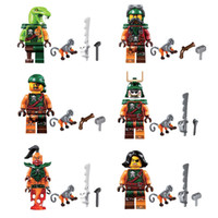 Wholesale Phantom Ninja Sky Pirates Cyren Doubloon Nadakhan BuckoSnake Clancee Monkey Minifigure Building Block Decool