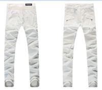 b s - BALMAIN jeans hot mens designer jeans famous brand balmai jeans men distressed jeans ripped denim balman Robin Jeans b