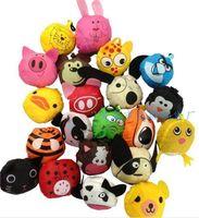 Wholesale 20pcs mix styles New Cute Useful Animal Bee Panda Pig Dog Rabbit Foldable Eco Reusable Shopping Bags D939