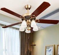 Wholesale 2016 New Ceiling Fan Head Ceiling Lights Led lights pendant lights Wood quality Indoor lighting LED Light Ceiling Fan TT2021002