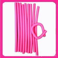 Wholesale 1 cm width cm Length pieces hair curling flexi rods magic air hair roller curlerbendy magic styling hair sticks