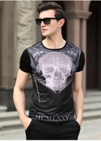 Wholesale Influx of goods explosion models summer new round neck short sleeve cotton non iron skeleton printing thin section men s t shirt