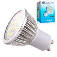 Wholesale 1 Quality Assurance GU10 W SMD LED Light Bulb Warm White Cold White AC V LED Spot Aluminum lamp cup