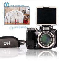Wholesale 1080P Digital Camera Full HD DV Camrecorder with x Optical Image Stabilized Zoom with Inch LCD Black
