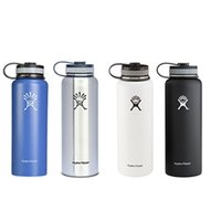 Wholesale 24pcs Hydro Flask Water Bottles oz Vacuum Insulated Stainless Steel Water Bottle Wide Mout w Flat Cap
