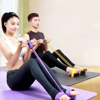 Wholesale Yoga Resistance Bands Foot Rally Rope Tummy Trainer Sit ups Fitness Pedal Bodybuilding Expander Elastic Pull Rope