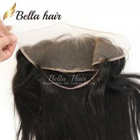 bella band free shipping - Natural Hairline Lace Band Frontals Grade A Brazilian Virgin Hair Silky Straight Lace Frontal Bella Hair