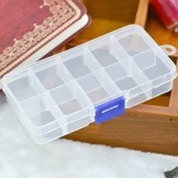 art combines - 10 cells Nail Art Storage Box can be combined New Nail Art Tip Sequin Drill Storage Box good quality