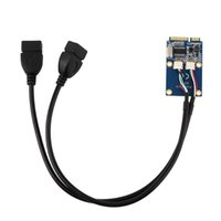 Wholesale 1 MINI PCI E Switch to Dual Port USB Expansion Card Adapter Card Digital Hot