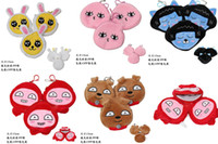 Wholesale 6 inches cartoon Cute Emoji toys plush coin purse Handbag children Zero wallet Polyester cm bag C902