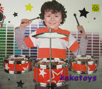 Wholesale Blue Children Toys Drum Set Boys Girls Play Music Develop Intelligence good toy