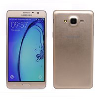 Dual sim android 16gb Prix-2016 Original remis à neuf Samsung Galaxy On7 G6000 4G LTE double téléphone portable SIM 5.5inch Android 5.1 Quad Core RAM 1.5G ROM 16GB 13MP Camera