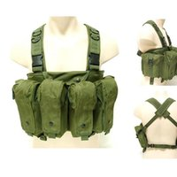 Wholesale Military Tactical Hunting Chest Rig Large Capacity Mag Carrier Pocket Combat Airsoft Paintball Vest
